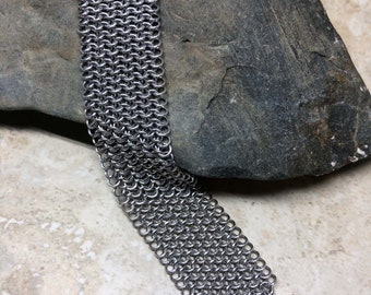 Chainmail cuff bracelet