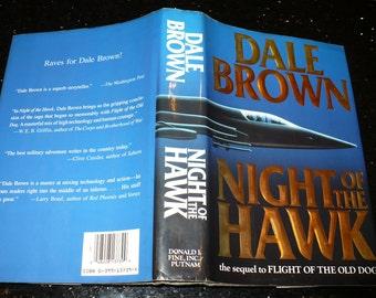 Dale Brown, Night of the Hawk, Books, Military Novel, Old Dog Saga,  Literature Fiction, Vintage Books,