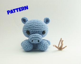 Amigurumi Hippo Pattern, Crochet Animal Pattern, Amigurumi Animal Pattern, Crochet Doll Pattern, Amigurumi Doll Pattern, Amigurumi Patterns