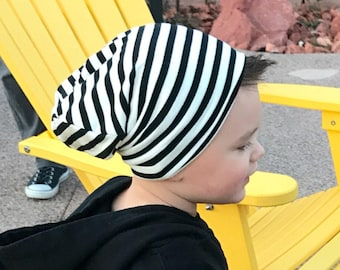 Boy slouchy beanie/ slouchy knit hat/ baby slouchy beanie/ black and white hipster beanie/ toddler boy slouchy beanie/ slouchy beanie/
