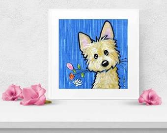 Choice of Signed KiniArt Terrier Dog Art PRINT