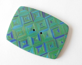 Decorative Polymer Clay Button, Large Single Sewing Button