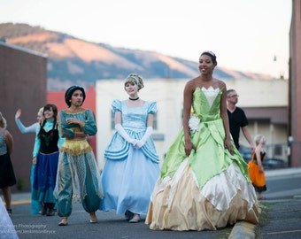 Tiana's Princess and the Frog Lily Pad gown, COSTUME version