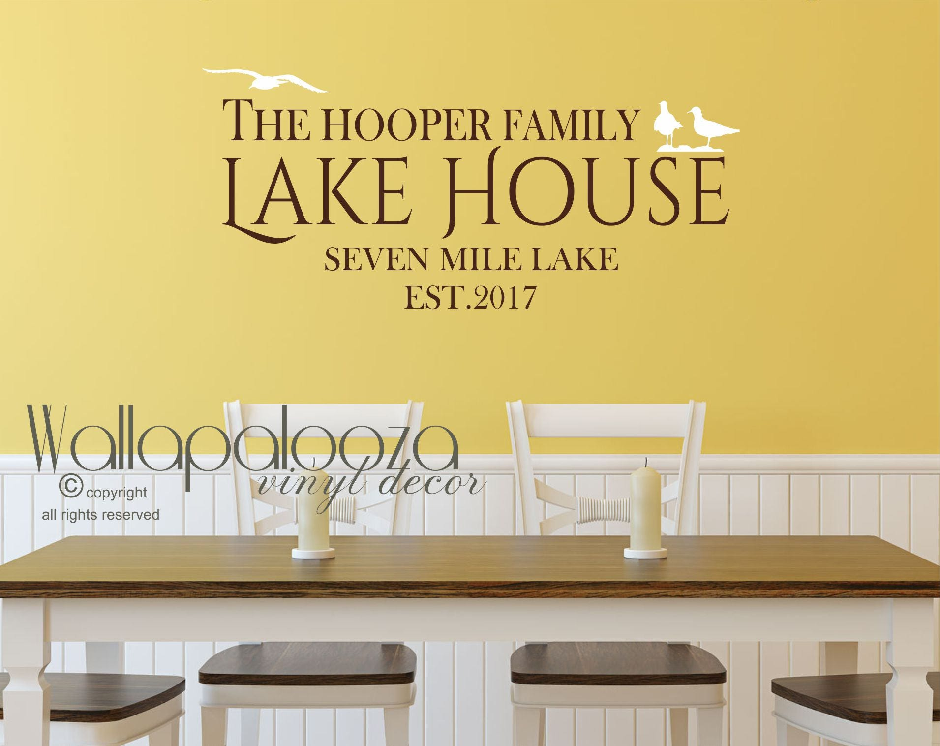 lake house wall decal lake house decor cottage wall decor