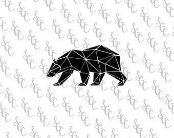 Reusable Stencil - Geometric Bear - Many Sizes to Choose from!
