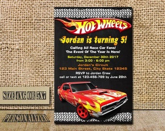 Hot Wheels Invitation Hot Wheels Birthday Hot Wheels