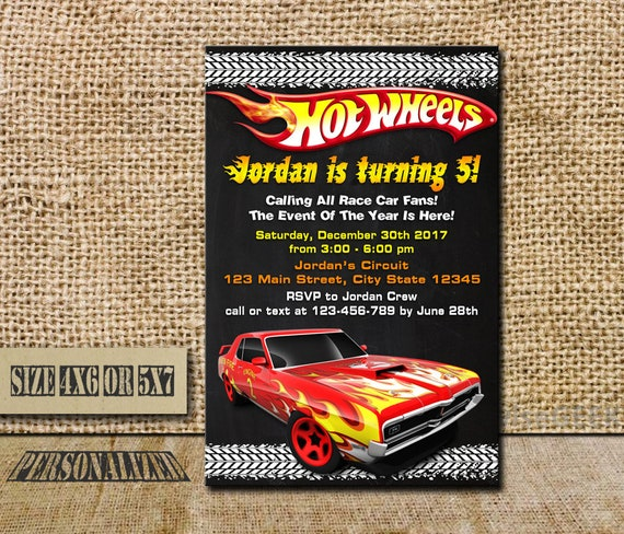 Hot wheels invitation hot wheels birthday hot wheels like this item filmwisefo Image collections