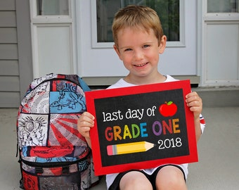 Last day of Grade one Sign, End of school grade 1, Last day of school printable, School Printable Sign, Last day of Grade one, Grade 1