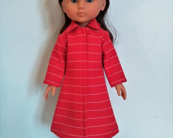 "Handmade Doll Clothes Coat fits 13"" Corolle Les Cheries Dolls Christmas B"