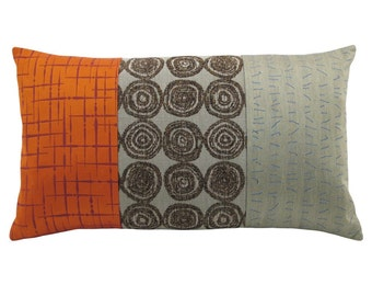 "Orange Alchemy's ""Panes"" Decorative Pillow 12 x 20 inches"