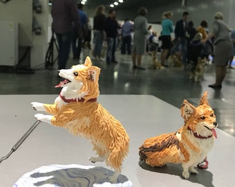 Figurine Corgi Dog (statuette of the breed of Welsh Corgi Pembroke)
