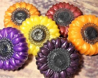 5 Sunflower Soap Favors, 10 Fall Flower Soap Favors, Autumn Flower Soap, Fall Wedding Favors, Autumn Soap Favors, Fall Festival Favors
