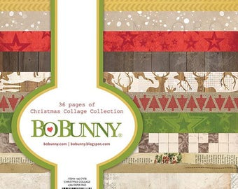 Bo Bunny - Christmas Collage Collection - 6 x 6 Paper Pad - 36 Pages