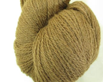 Plant-Dyed Wool Yarn - Fingering - Foraged Local Color from Wisconsin - Black Walnut Hull Natural Dye - YAF121709  - 100 grams