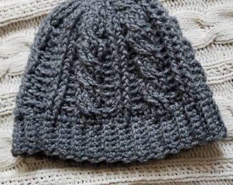 Cable Crochet Beanie