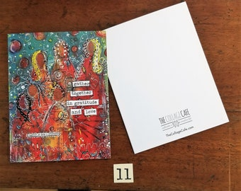 Happy Mail Mixed Media Abstract Art Note Cards No. 11