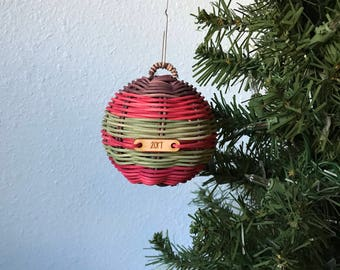 Christmas ornament Hand Woven ornament Authentic Native American Art Christmas weaver