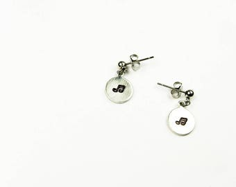 Music Notes Earrings - Tiny Post Earrings - Gift for Teen or Tween Music Fan