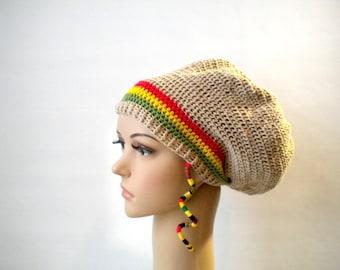 Rasta clothing, dreads, cotton rasta mesh tam, reggae party, dreadlock wear, reggae clothing, dreadlock tam