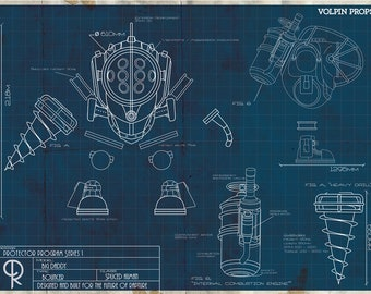 Big Daddy Blueprint Poster