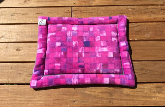 Window Pad for Cats, Purple Plaid Dog Bed, Small Cat Mat, Puppy Gifts, Couch Pad, Comfy Pet Bed, Crate Cover, Dog House Pads, 19x25