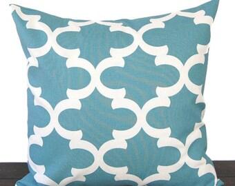Pillow Cover Throw Pillow Toss Pillow Cushion Cover dusty blue ivory Fynn
