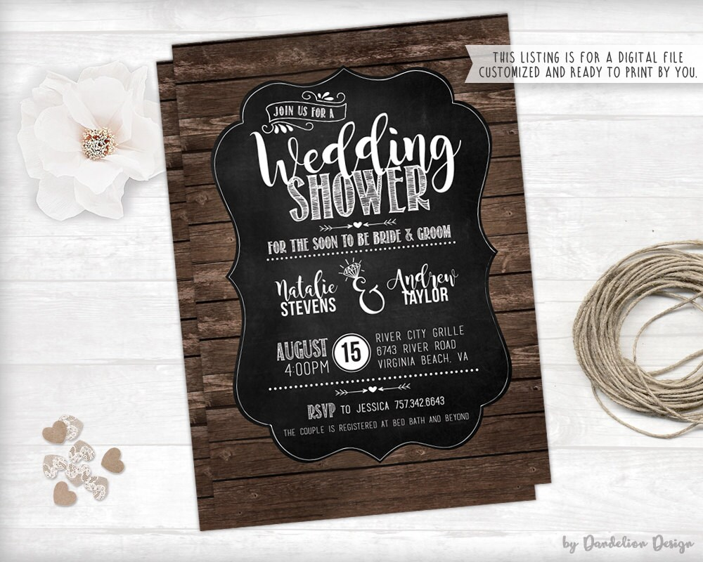 Wedding Shower Invitations For Couples: Couples Wedding Shower Invitation Printable