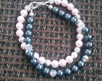 Swarovski Pearls and Crystals with Sterling beads bracelet