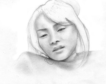 Original Pencil Portrait Artwork (A5)