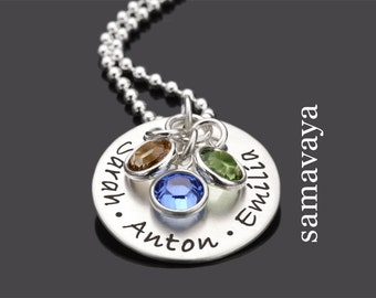 Jewelry engraving WE ARE FAMILY 925 Silver name necklace family