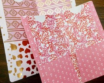 Choose One - Midori Travelers Notebook Style Folder - FREE SHIPPING - Hearts & Anchors 4 pocket Folders MTN Fauxdori