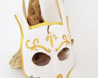 Leather splicer mask / Leather Bioshock mask / Leather mask / Leather rabbit mask / Cosplay mask