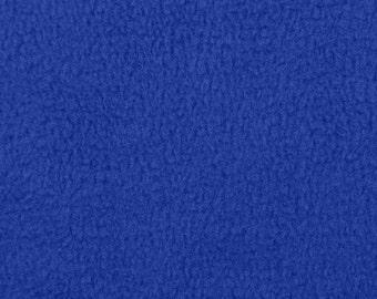 Royal Blue Fleece Fabric - by the yard