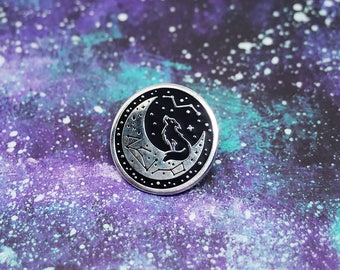Wolf Moon Pin