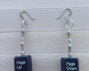 Personalized Techie Computer Key Earrings - With Your Computer Key of Choice.