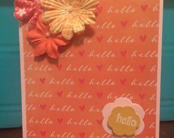 Orange blossom hello card