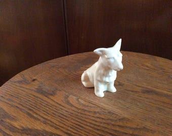 Belleek Porcelain Dog