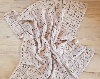 Crocheted Baby Blanket, nursery blanket, travel blanket, baby shower gift, crochet afghan, baby afghan, call the midwife pattern