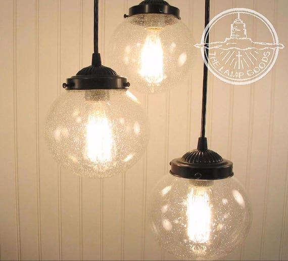 Glass pendant chandelier light seeded glass trio flush mount audiocablefo