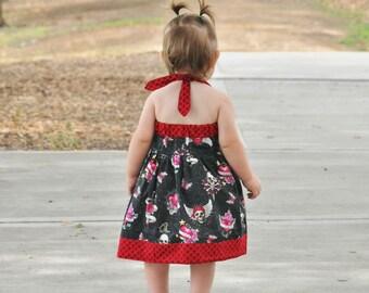 Baby and Toddler Dress Pattern - Sweet Summer Halter Dress - PDF Sewing Pattern