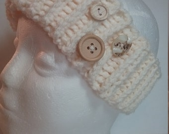 Trendy Ivory Earwarmer Headband
