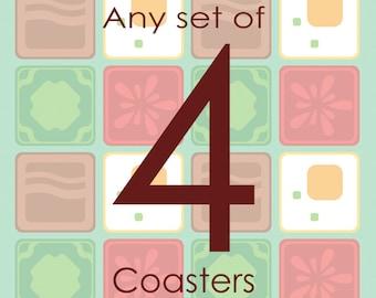 Set of Four Coasters (4)