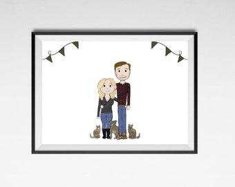 Custom made family portraits
