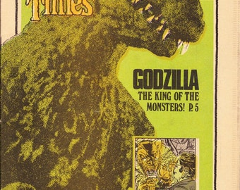 The Monster Times #23   Godzilla King of the Monsters   June 1973  Monster Times Publishing  Grade NM