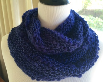Soft Textured Navy Infinity Scarf