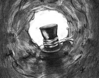 Pencil Drawing Print - To Wonderland - Day 272