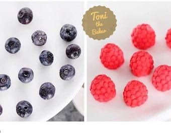 BUY 2 GET 1 FREE-3D Blueberry Raspberry Mold Silicone Mold,Fondant Blueberry Mulberry Mold, Chocolate Mold,Gumpaste Mold,Silicone Mold