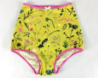 littlefour handmade floral high waist panties
