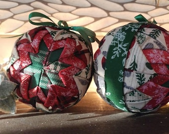 Quilted Farmhouse Ornaments | Handmade