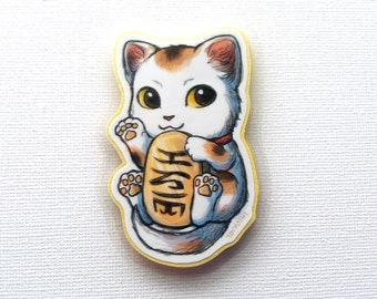 Lucky Cat Laminated Magnet
